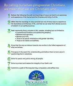 """I'm not actually a fan of the term """"progressive Christian"""" when it's used in this way of describing a small group of Christians, because God makes it extremely obvious that we should all be progressive. I don't believe that you have to be a progressive in the sense of being a liberal or leftist, but that you should indeed believe in progressing forward, to a better world. This does mean that holding regressive political views (extreme right or extreme sjw - opposite sides of the horse shoe)…"""