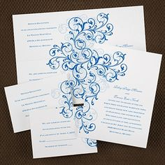 Grand Statement - Sep 'n Send - White Shimmer, available in different color options. http://celebratedoccasions.carlsoncraft.com/Wedding/Wedding-Invitations/3159-VZ27063WS-Grand-Statement--Sep-n-Send--White-Shimmer.pro