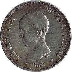 05 Pesetas. (1889)(*18-89) Madrid MP M - EBC-. Brillo original.