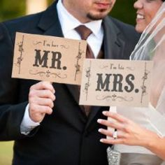 Mariage tendance Mr & Mrs (moustache)