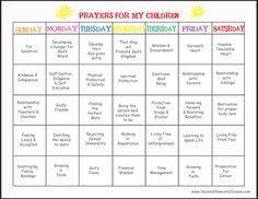 praying for our children prayer calendar