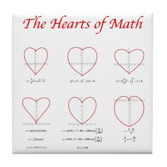 Heart Curves Tile Coaster by Math Threads CafePress is part of Math formulas - Shop Heart Curves Tile Coaster designed by Math Threads Lots of different size and color combinations to choose from ✓Free Returns ✓High Quality Printing ✓Fast Shipping Math Teacher, Math Classroom, Teaching Math, I Love Math, Fun Math, Iq Puzzle, Math Poster, Math Formulas, Math Humor