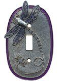 Dragonfly Single Purple Switch plate