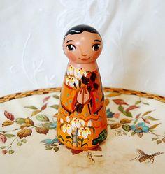 Saint Kateri Tekakwitha Catholic Saint Doll by SaintAnneStudio