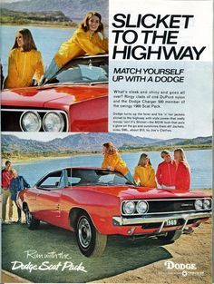 1969 Dodge Charger 500 vintage print advertisement