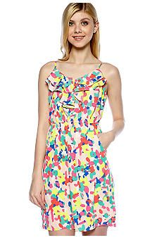 Red Camel® Ruffle Front Floral Dress - Belk.com