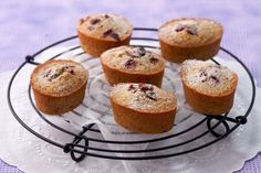 Cranberry And Pecan Friands Recipe Tea Cakes, Mini Cakes, Baby Cakes, Friands Recipe, Financier Cake, Tea And Crumpets, Small Cake, No Cook Meals, No Bake Cake