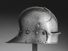 Visored Sallet Artist/maker unknown, German or Italian,  date: 1460. In Philadelphia Museum of Art