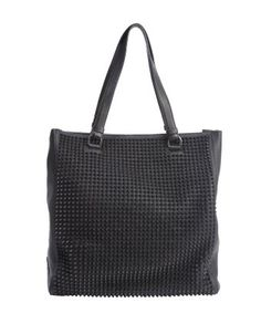Christian Louboutin : nero leather spiked 'Panettone' shopper tote