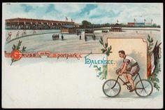 Gruß aus dem Sportpark Halensee, um 1900