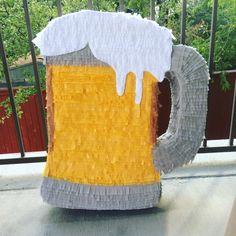 """Draft Beer Emoji Pinata 23""""   Birthday Pinata   Engagement Party   Beer Lover"""
