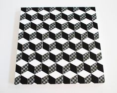 Easy DIY Art for your home ~ make tumbling block art with a few easy steps and some Scotch Duct Tape. Masking Tape, Washi Tape, Diy Wall Art, Diy Art, Isometric Cube, Tumbling Blocks, Tape Painting, Block Art, Tape Art