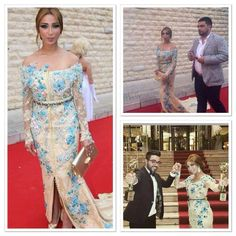 Dunia Batma dressed by Designer Chaimae Zeist @Murex dor award for the best young arabic singer.