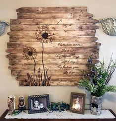 Dandelion Wall Art Large Square Flower Wood Picture Rustic Reclaimed Wood Country Home Farmhouse Decor Bedroom Dining Family Room Dandelion Art/Reclaimed Wood Wall Art/Wood Sign/Farmhouse Decor/Rustic Decor/Large Wall Art/Custom Wood Sign/Housewarmin. Farmhouse Bedroom Decor, Rustic Farmhouse Decor, Rustic Walls, Rustic Decor, Bedroom Country, Country Wall Art, Rustic Bedroom Decorations, Rustic Livingroom Ideas, Rustic Wood