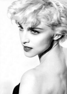 Madonna photographed by Herb Ritts in 1986.