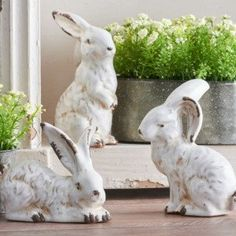 The Bunny Den Figurines Set of 3