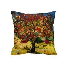Van Gogh Mulberry Tree (F637) Fine Art Throw Pillow