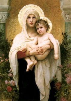The Blessed Mother and Jesus - such a beautiful picture