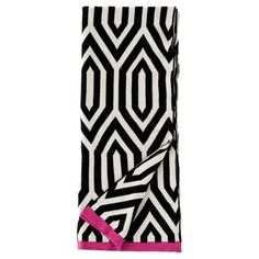Check out this item at One Kings Lane! Thompson Cotton Throw, Black