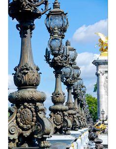 Paris Street Lamp 8x12 Photo French architecture