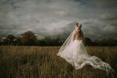 A custom bridal veil from the by KYNA Collection. Bridal headwear, veils and accessories. Shot in a bog in Ireland Wedding Hair Accessories, Bridal Headpieces, Veils, Wedding Hairstyles, Ireland, Celebs, Wedding Dresses, Collection, Instagram