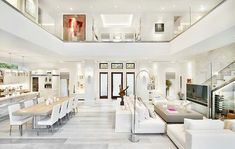Exquisite modern coastal home in Florida with luminous interiors - - A modern coastal home with square feet of luxurious living space was designed by MHK Architecture & Planning in Naples, Florida. Dream Home Design, Modern House Design, Big Modern Houses, Coastal Living Rooms, Living Spaces, Coastal Homes, Coastal Cottage, Coastal Entryway, Cottage Farmhouse