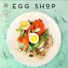 Egg Shop Because brunch is the best meal of the day.Egg Shop, 151 Elizabeth Street (between Kenmare and Broome streets); Restaurants In Nyc, Egg Shop, Egg Sandwiches, Places To Eat, The Best, Food Porn, Good Food, Brunch, Eggs