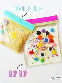 Si vous ne connaissez pas le concept des sacs sensoriels, cette idée va vous paraître saugrenue ! Mais on parie que vous et votre enfant allez adorer !