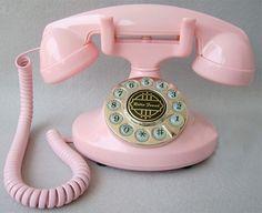 vintage pink phone