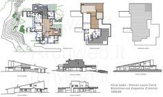 2D : Maison Louis Carré, Bazoches-sur Guyonne France (1956-1959 construction) | Alvar Aalto