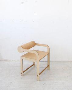 Leaning Cylinder Arm Chair | Waka Waka