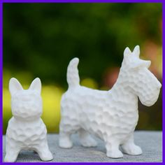 Birthday Gift Dog Figurines Pup Ornaments Kid Toy Lovely Ceramic Dolls Cute Dog Home Decoration 2 Size White Dog Manualidades
