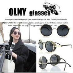 2013 European American Korea Popular Steampunk Sunglasses Lady Gaga BingBing Fan Same Model Sun Eyewear Round Prince sun glasses $12.99