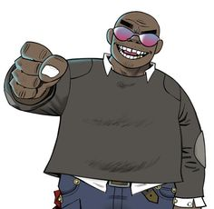 Anonymous said: Can you tell me about these 'gorillaz', please ? Gorillaz is a virtual band created by Damon Albarn and Jamie Hewlett. Russel Hobbs, Russel Gorillaz, Gorillaz Fan Art, Monkeys Band, Play That Funky Music, Tea Art, Image Manga, Cool Bands, Concert