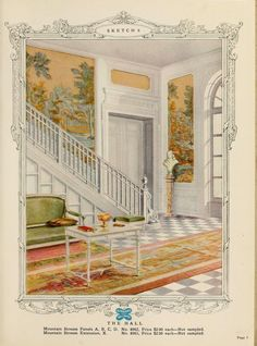 The Hall :: Home decoration, 1917 / Alfred Peats Co.