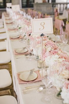 Elegant pink wedding reception; Featured Photographer: SMS Photography