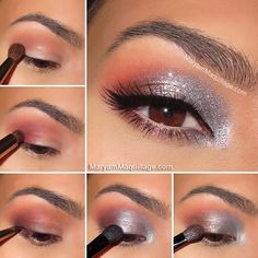 """Gorgeous """"fire and ice"""" eye makeup look!"""