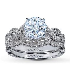 Neil lane 2 carat diamond engagement with wedding band literally neil lane engagement ring my center stone is upgraded to a larger leo junglespirit Choice Image