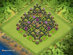 Defense Base TH8 - TH8 Clash of Clans Defensive Base Layout