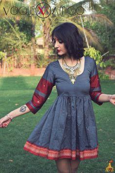 Saree Gown, Sari Dress, Blouse Neck Designs, Kurta Designs, Indian Attire, Indian Ethnic Wear, Frock Fashion, Fashion Dresses, Indian Dresses