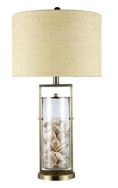 Glass Seashell Table Lamps
