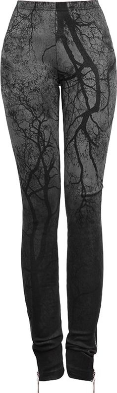 "Punk Rave leggings black-grey branches print. Looks like my ""The Journey"" painting..... :)"