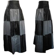 "GIVENCHY COUTURE skirt in silk taffeta/ velvet A wonderful GIVENCHY couture black silk taffeta and velvet full ball gown style skirt that is perfect paired with a crisp white shirt. The whole ensemble will look just like that unforgettable fashion moment Sharon Stone had at the 1998 Academy Awards.   The skirt is beautifully made in rich, luxurious taffeta and black velvet in a oversized checkerboard pattern.  It has a slight drop waist and is a full skirt.    Measurements Drop waist: 6""…"