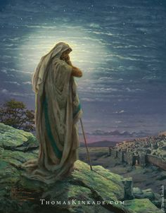 """Thomas Kinkade created """"A Prayer for Peace"""" in 2006 as part of his Impressions of Israel Collection. As we prepare for Easter, we reflect on Thom's message of hope and peace through prayer."""