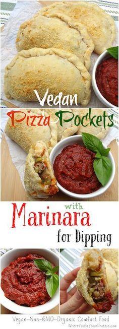 Vegan Pizza Pockets with Marinara Sauce                                                                                                                                                                                 Plus