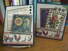Graphic 45 French Country Cards by patriciae - Cards and Paper Crafts at Splitcoaststampers