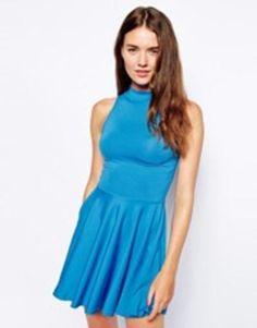 motel vanessa dress  blue #blue #dress #covetme