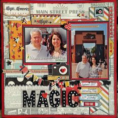 Nice traditional/paper scrapbook page; Disney; MAGIC - By Shercara