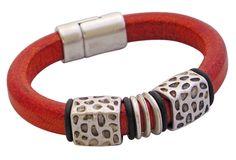 leather bracelet design ideas | Regaliz® Leather Bracelet Fuchsia Waves Regaliz® Leather Bracelet ...