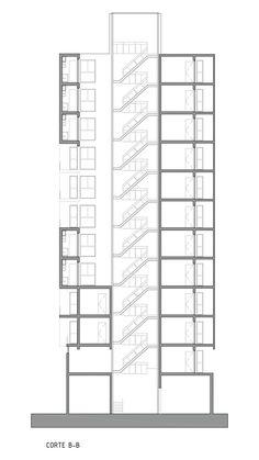 Conjunto de apartamentos Torre del Molino,Corte